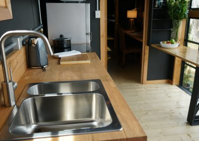 Timber Kitchen option in cabin